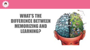 Artificial intelligence slide that reads, 'What's the difference between learning and memorizing?'